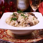 This creamy Champagne Risotto is such an easy dish to make. Risotto is usually thought of as being difficult but in reality, it's quite simple. This risotto is made with champagne, mushrooms and parmesan cheese and is perfect to serve over the holidays.|www.zagleft.com
