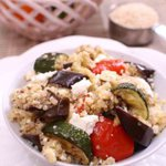 A hearty mixture of quinoa and roasted vegetables, this generous salad is a meal in a bowl. This Roasted Vegetable and Quinoa Salad is perfect as a side dish or as the main course.