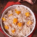 This Spiced Butternut Squash Basmati Rice is the perfect side dish for fall. It's perfectly seasoned and can be ready in under 20 minutes! | www.zagleft.com