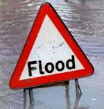 flood sign, by alan in belfast from flickr under cc