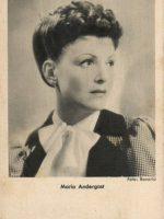 Autogrammkarte Maria Andergast 12