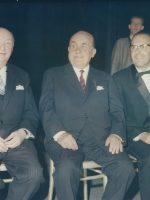 Hansl Schmid, Fritz Jellinek, Emmerich Arleth jun 1966 Raimundtheater – Ehrung