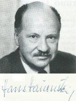 Hans Hauenstein mit Unterschrift