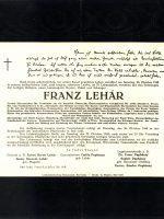 Franz Lehár Parte