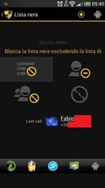 Schermata Lista Nera Android
