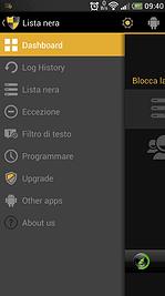 Lista nera Android opzioni