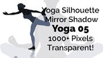 Yoga Exercise Mirror Transparent Silhouette 05