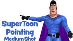 SuperToon 3D Pointing Medium Shot