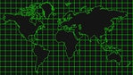 Hi Tech World Map Graphic Background