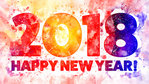 2018 New Year Themed Background 10