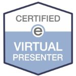 Certification stamp for Antoni Lacinai as a Virtual Presenter 2020