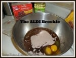 ALDI, Brookie, Cookie, Brownie, Cookies, baking, holidays, fun, delicious, chocolate, easy to make, baking, holiday, mixtures, aldi ingredients, kitchen, dana vento, food, foodie, food prep