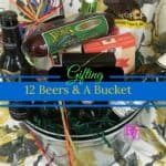 12 beers and a bucket, galvanized bucket, sam adams, corona, popcorn, sausage, gifting, holiday gifting, men gifting, father's day, birthday, parties, celebrations, hostess gift, new home gift, new dad gift, bucket of beer, easy to order gourmet gift baskets, food, foodies, dana vento, food writer