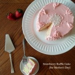 Strawberry Ruffle Cake