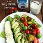 Rainbow Salad with Kefir Dressing