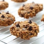 Wholesome Pumpkin Oatmeal Cookies with Chocolate Chips and All-Bran cereal for an extra fibre boost! The recipe for these yummy healthy treats uses whole wheat flour and no refined sugar.