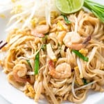 This is THE BEST Shrimp Pad Thai Recipe! I learnt it in a cooking class in Chiang Mai. The gluten free noodle stir fry tastes just like on the streets of Thailand.