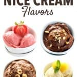 Enjoy healthy frozen treats in the form of Banana Nice Cream. This refreshing dessert is vegan, dairy free, has no added sugar and endless flavor options. We have compiled the best nice cream recipes here!