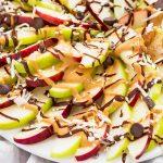 Apple Nachos Platter Closeup