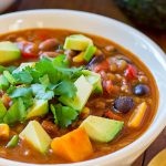 Vegetarian Lentil Chili in a bowl