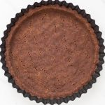Gluten Free Chocolate Pie Crust in pan