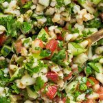 Closeup of Tabbouleh Salad
