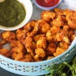 Air Fryer Cauliflower Tikka - Easy Cauliflower Snack Recipe