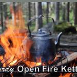 4 Sturdy Open Fire Kettles