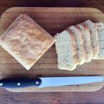 Sliced loaf of Best White Bread from a Sponge recipe.