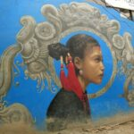 Freak Street Kathmandu street art Newari girl