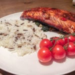Grilled Salmon and Spinach - Quick and Easy Salmon recipe, low fat and healthy whilst full of flavour - It tastes great!! | AmateurChef.co.uk