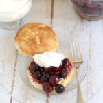a blueberry & cherry shortcake
