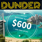 Dunder Casino [register & login] 20 free spins no deposit required