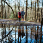 Spring engagement photoshoot in Shere