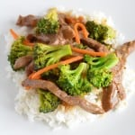 Beef and broccoli stir fry is a quick and easy protein rich dinner.