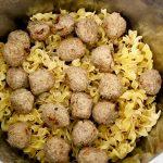 ingredients for Instant Pot Swedish Meatballs in instant pot