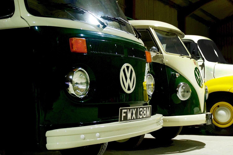 classic VW camper van, panel van and pick up