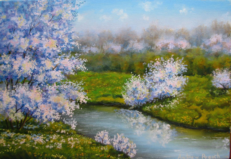 картина весна