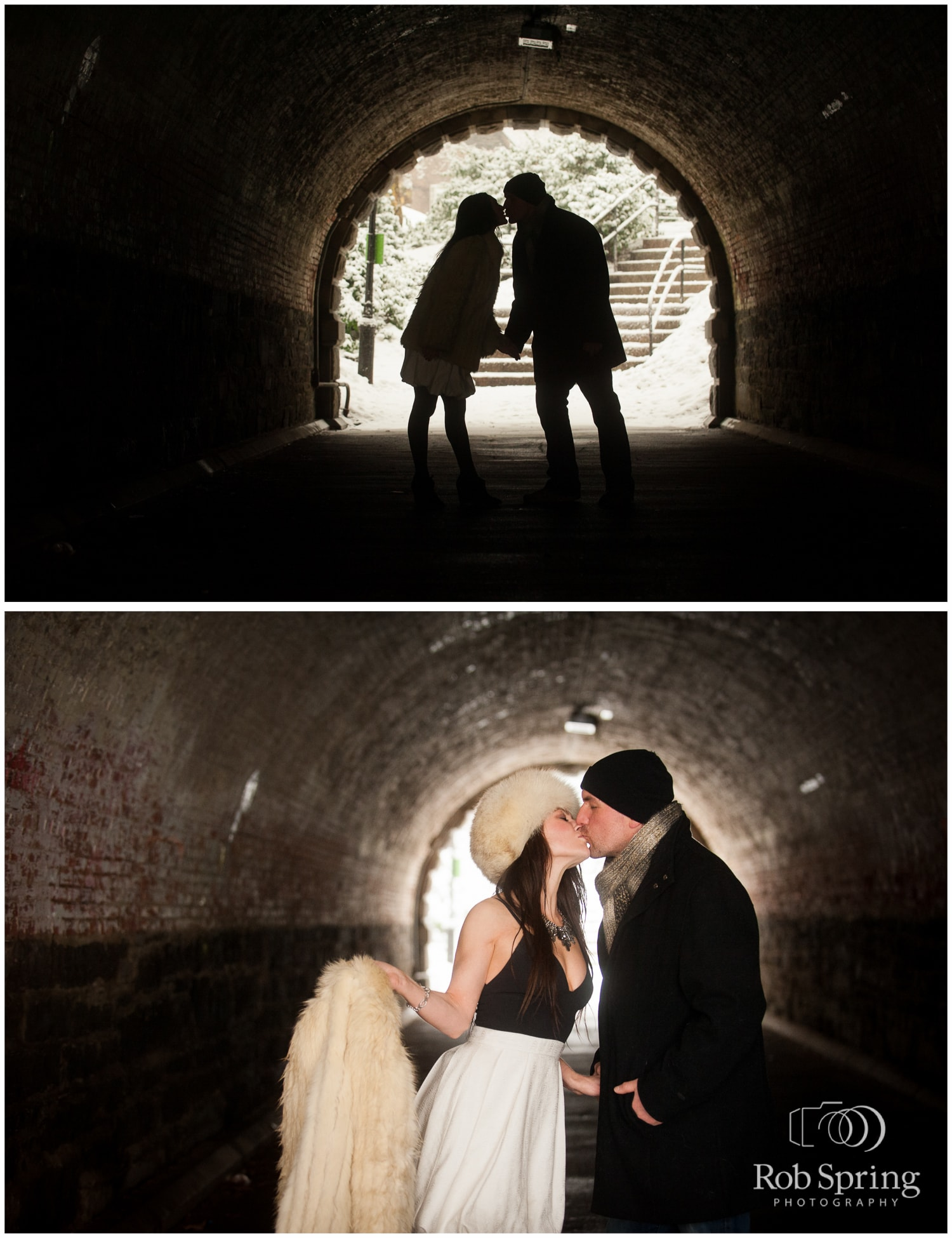 Central Park Engagement Session Tunnel