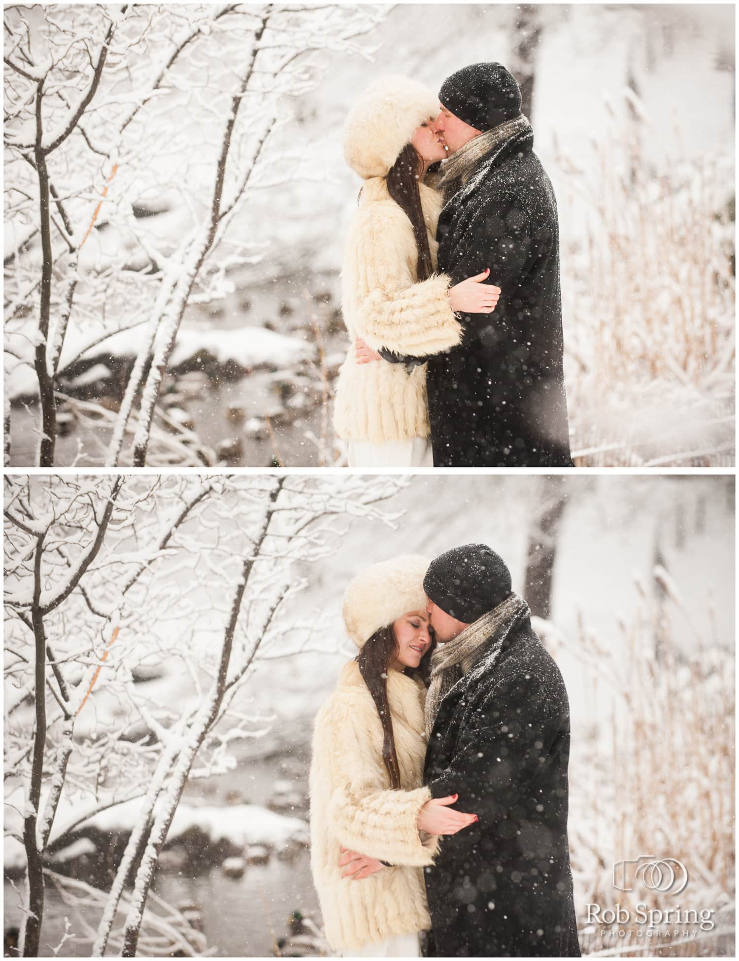 Snowy Central Park Engagement Session