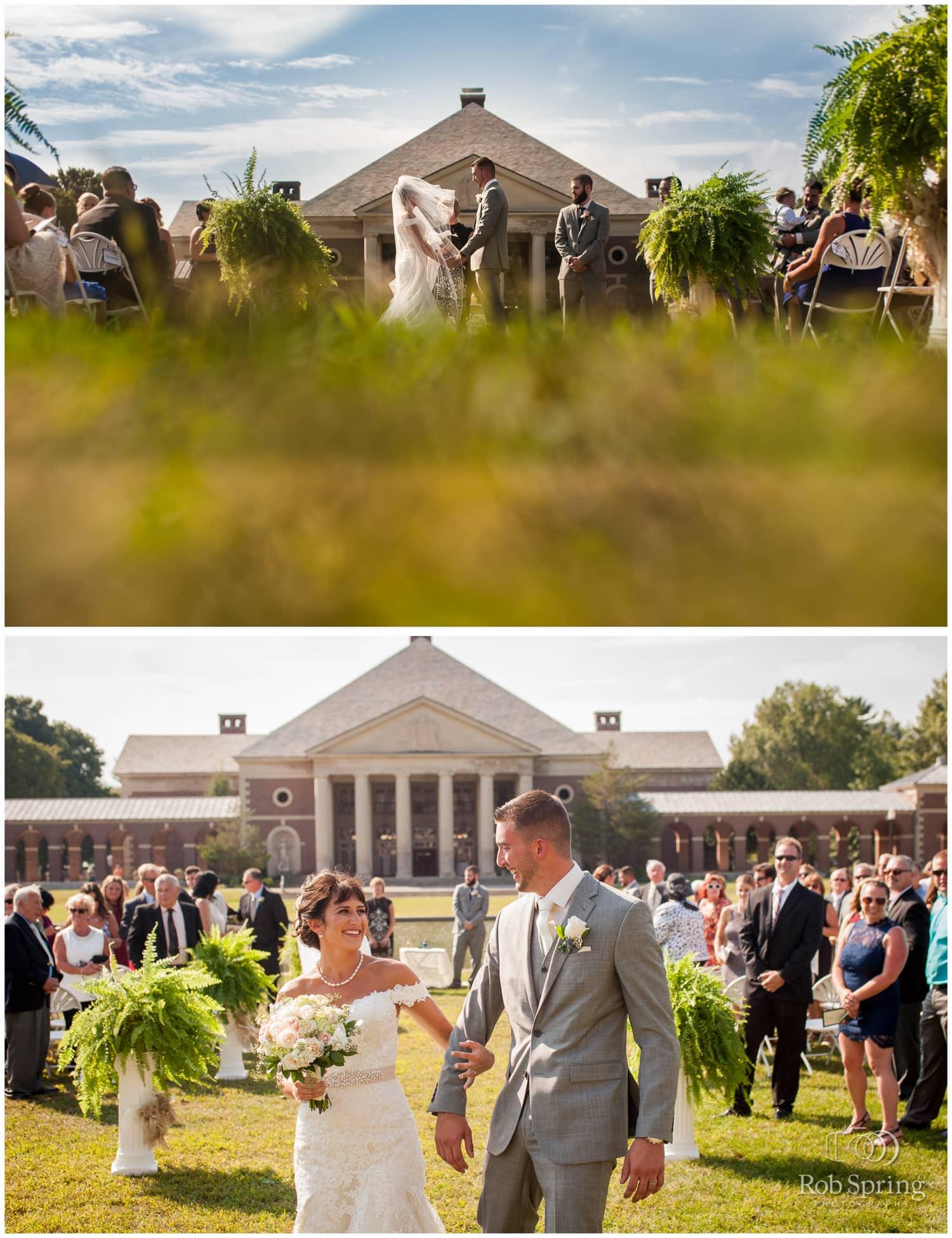 Hall of Springs outdoor ceremony, Saratoga Springs wedding photos