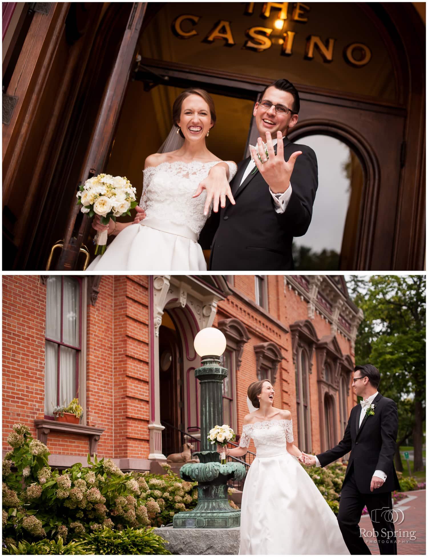 happy, smiling bride and groom, Saratoga Springs, NY Wedding photos