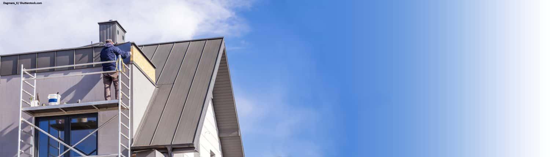 Dach, Hausdach, Metall, Dachdecker