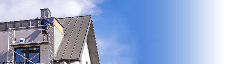 Metalldach, Dach, Hausdach, Metall, Dachdecker