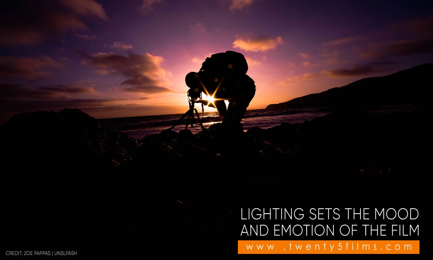 Lighting sets the mood and emotion of the film