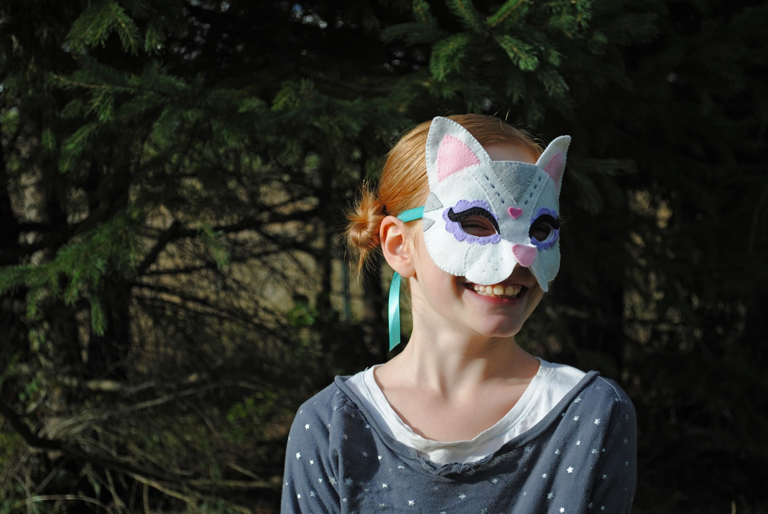 felt cat mask sewing pattern