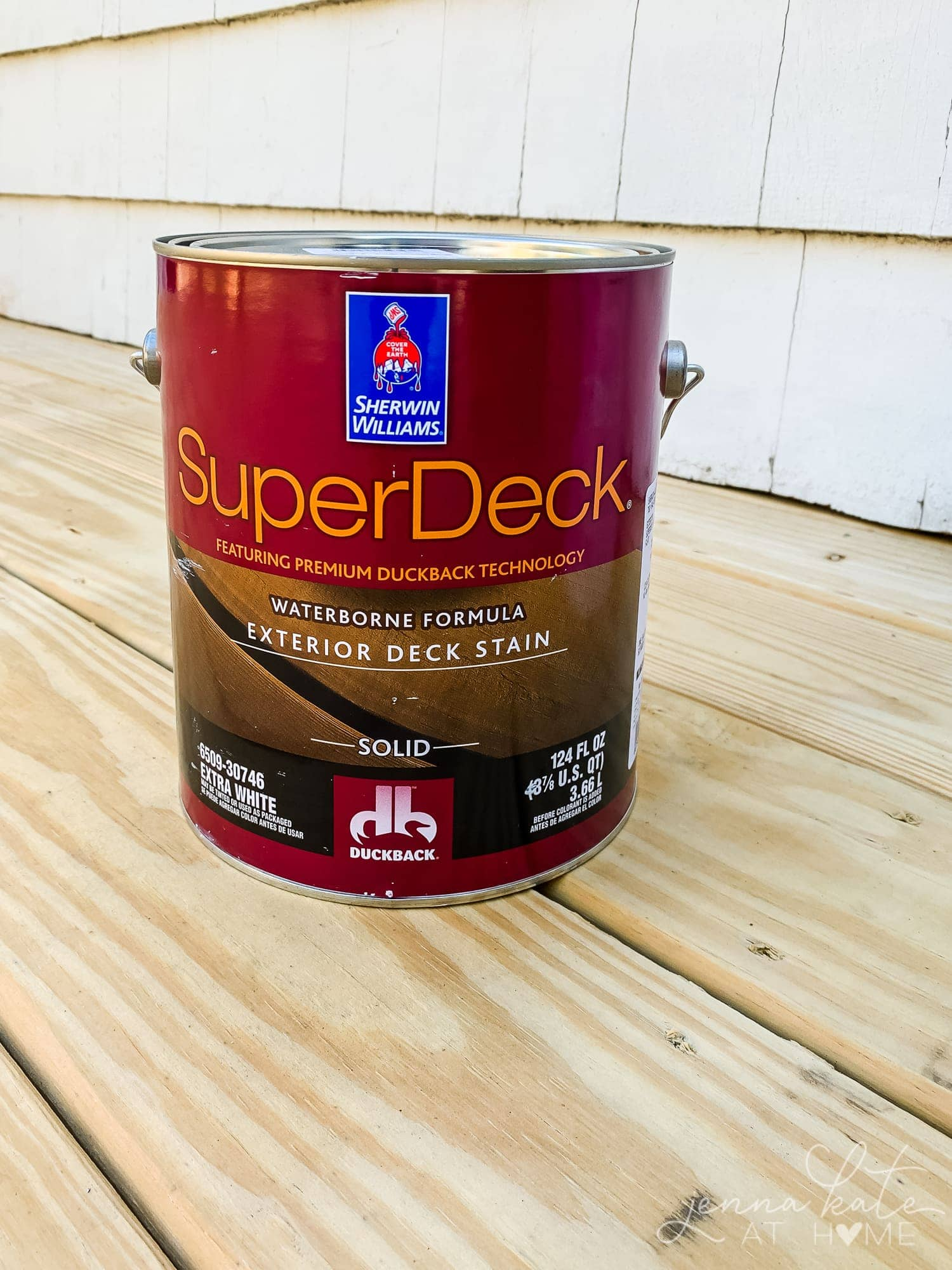 Sherwin Williams SuperDeck solid deck stain.