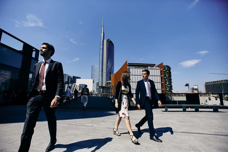 Fotografo di architettura urbana milano per interni coima piazza gae aulenti reportage