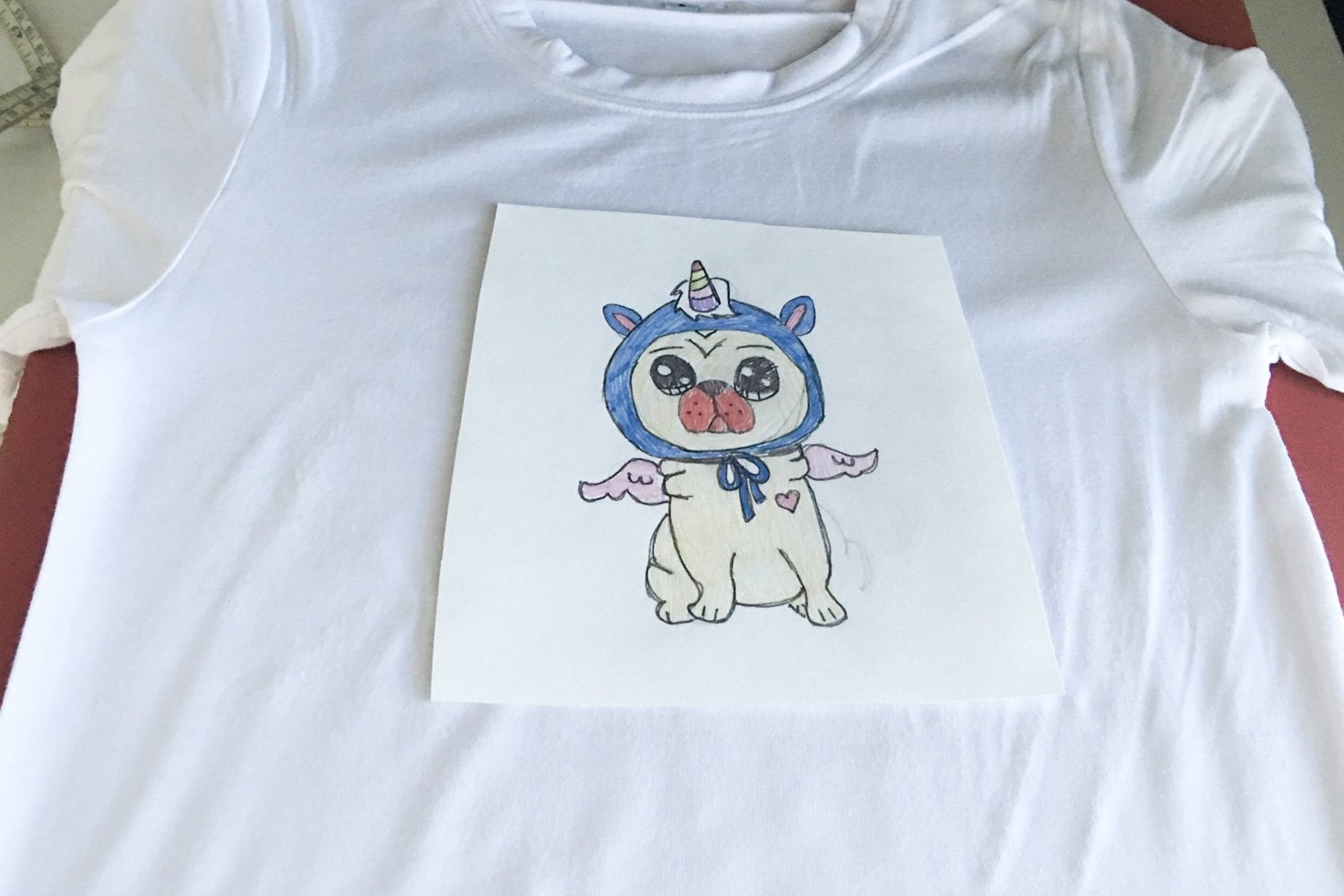 cricut infusible ink pens with drawing to shirt