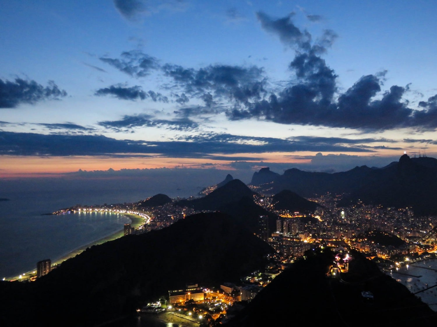 The View at Sunset from the Sugar Loaf Mountain Brazil